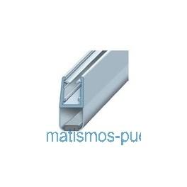 BURLETE IMAN CENTRAL VIDRIO DE 10MM. A DE 2  Y 2.20 METROS