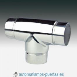 UNION EMPALME T RECTO PARA TUBO DE 43MM. CT-202 INOX 316