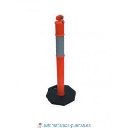 POSTE SEPARADOR DE PLÁSTICO PVC CON BASE DE GRAN ESTABILIDAD