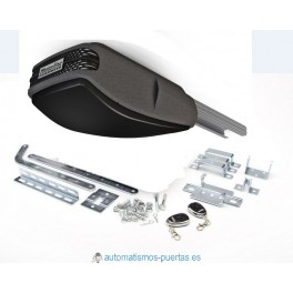 Kit motor para puerta seccional o basculante MOTORLINE ROSSO 60CA con dos mandos a distancia y caña de aluminio