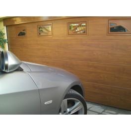 Puerta Seccional Imitacion madera acanalada 3 mts ancho 2,10 mts alto
