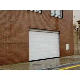 Puerta de Garaje Seccional Lacado Blanco 2,50 x 2,20 mts