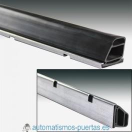 KIT PERFIL ACERO Y GOMA PROTECCIÓN PUERTAS BASCULANTES (METRO LINEAL)