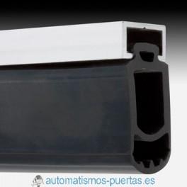 PERFIL ALUMINIO Y GOMA PARAGOLPES PARA PUERTAS BATIENTES Y SECCIONALES (METRO LINEAL)