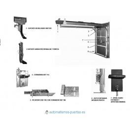 Kit de cierre y desbloqueo para puertas seccionales automaticas. Accesorios para automatismos de puertas seccionales.