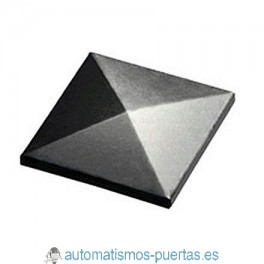 TAPA SUPERIOR DE TUBO RECTANGULAR 30X30MM ACERO INOXIDABLE.